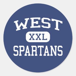 West - Spartans - High - West Bend Wisconsin Round Sticker