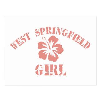 West Springfield Pink Girl Postcard