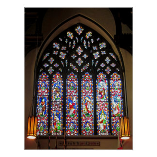 West Stained Glass Window Christ Church Cathedral Poster
