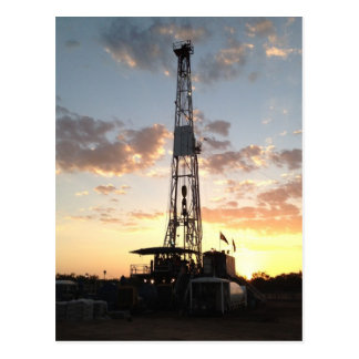 West Texas Drilling Rig Postcard