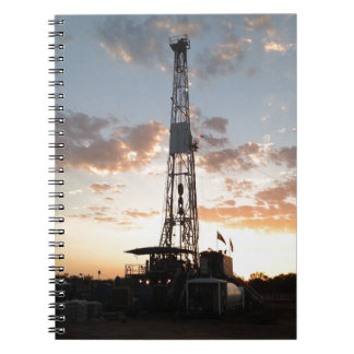 West Texas Drilling Rig Spiral Notebook