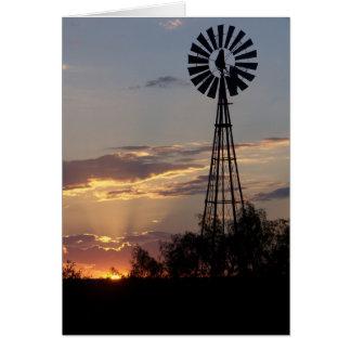 West Texas Sunset Card