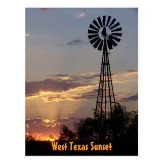 West Texas Sunset Postcard