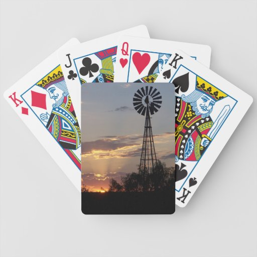 West Texas Windmill Bicycle Poker Deck