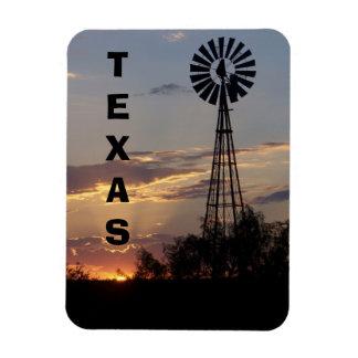 West Texas Windmill Rectangular Photo Magnet