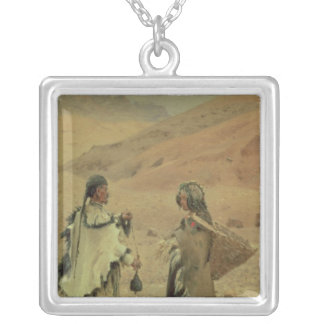 West Tibetans, 1875 Silver Plated Necklace