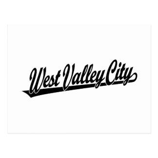 West Valley City script logo  in black Postcard