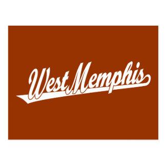 West Valley City script logo in white Postcard