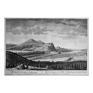 West View of the City of Edinburgh, 1753 Poster