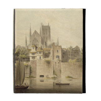 West View of Worcester Cathedral 1798 w c on pap iPad Cases