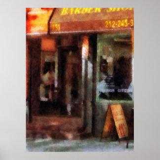 West Village Barber Shop Print