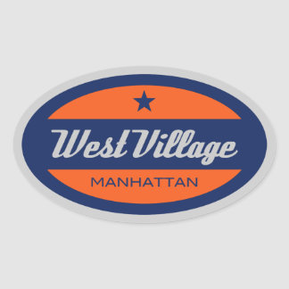 West Village Oval Sticker
