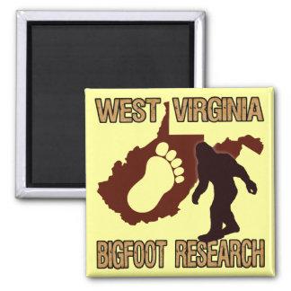 West Virgina Bigfoot Research Square Magnet