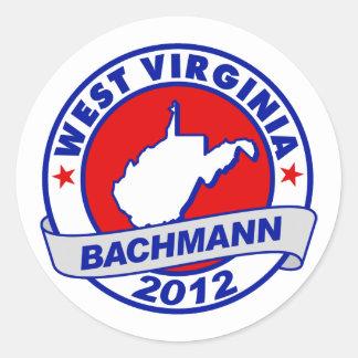 West Virginia Bachmann Round Sticker