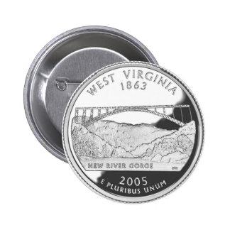 West Virginia 6 Cm Round Badge