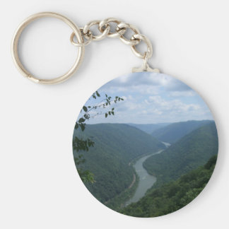 West Virginia Basic Round Button Key Ring