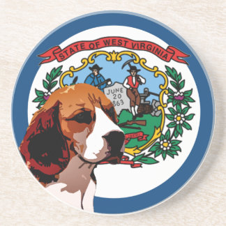 West Virginia Beagle Coaster