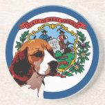 West Virginia Beagle Drink Coasters
