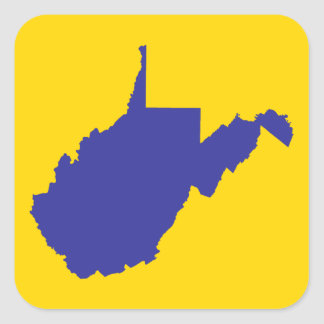 West Virginia Blue and Gold Square Sticker