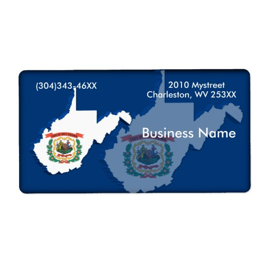 West Virginia Business Label Shipping Label
