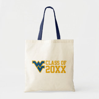 West Virginia Class Year - Blue Canvas Bags