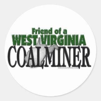 West Virginia Coalminer Classic Round Sticker