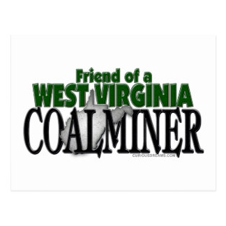 West Virginia Coalminer Postcard