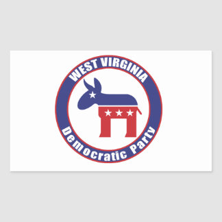 West Virginia Democratic Party Rectangular Sticker
