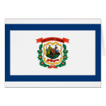 West Virginia Flag Greeting Card