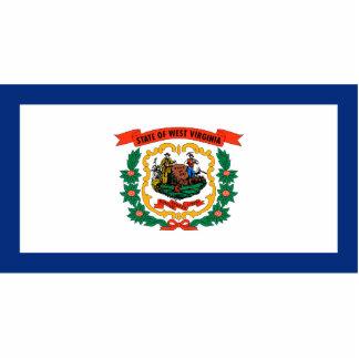 West Virginia Flag Keychain Cut Out