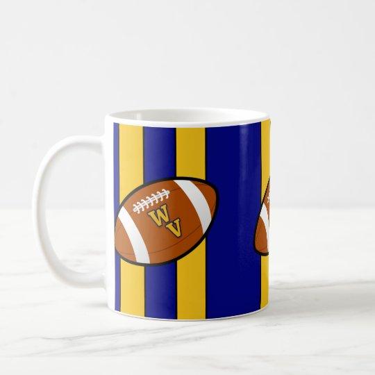 West Virginia Football Blue and Gold Pride Coffee Mug