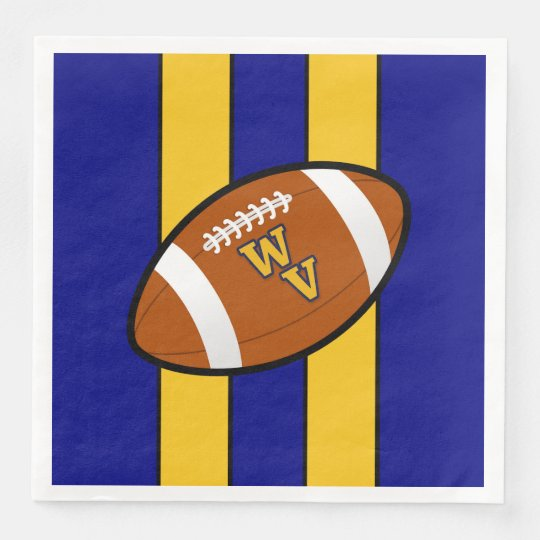 West Virginia Football Blue and Gold Pride Disposable Napkins