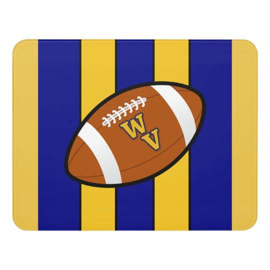 West Virginia Football Blue and Gold Pride Door Sign