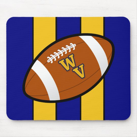 West Virginia Football Blue and Gold Pride Mouse Mat