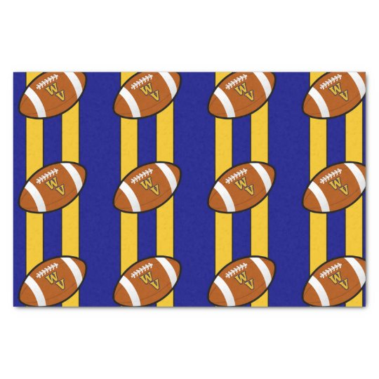 West Virginia Football Blue and Gold Pride Tissue Paper