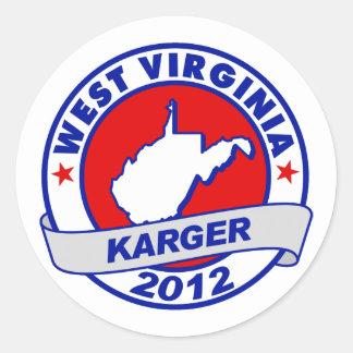 West Virginia Fred Karger Round Sticker