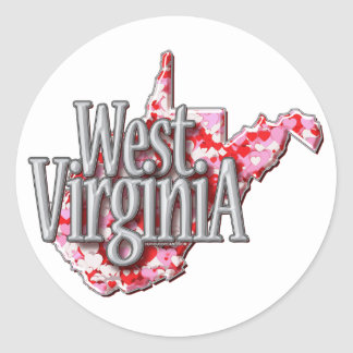 West Virginia Full of Hearts Stickers