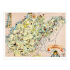 West Virginia Funny Map Postcard