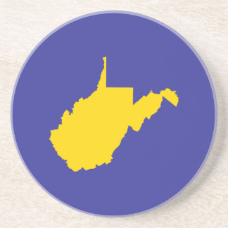 West Virginia Gold and Blue Coaster