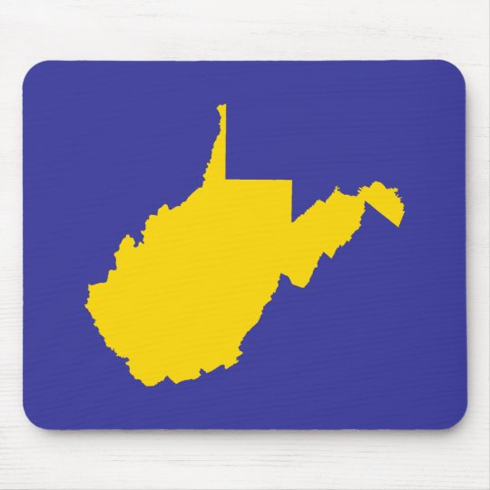 West Virginia Gold and Blue Mouse Mat