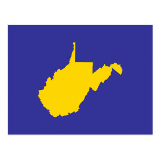 West Virginia Gold and Blue Postcard