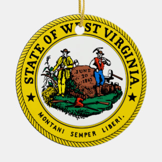 West Virginia Great Seal Christmas Ornament