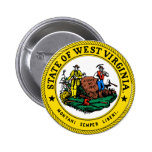 West Virginia Great Seal Pinback Buttons