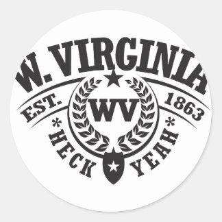 West Virginia Heck Yeah Est 1863 Stickers