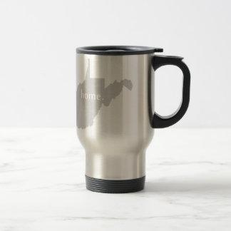 West Virginia home silhouette state map Travel Mug