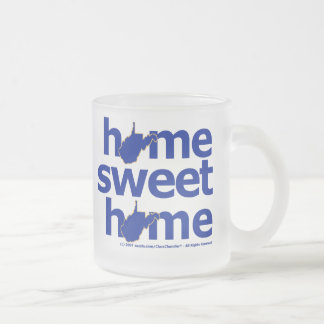 West Virginia Home Sweet Home Frosted Glass Mug