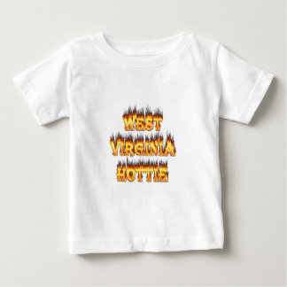 West Virginia Hottie fire and flames Infant T-Shirt