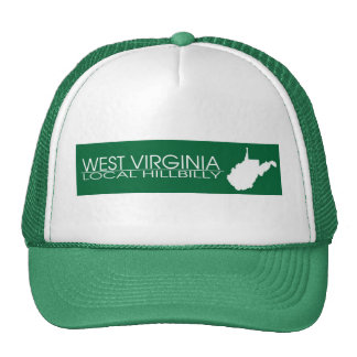 West Virginia Local Hillbilly, Marshall Colors Trucker Hats