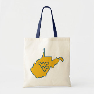 West Virginia Logo in State Canvas Bags