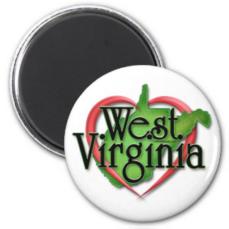 West Virginia Love Hug Fridge Magnets
